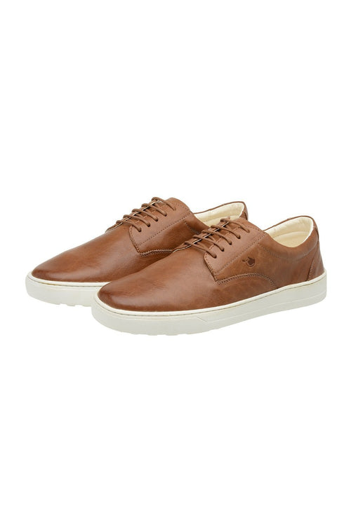 Sneaker Male Byron Leather Shoelaces Biodegradable Casual Caramel