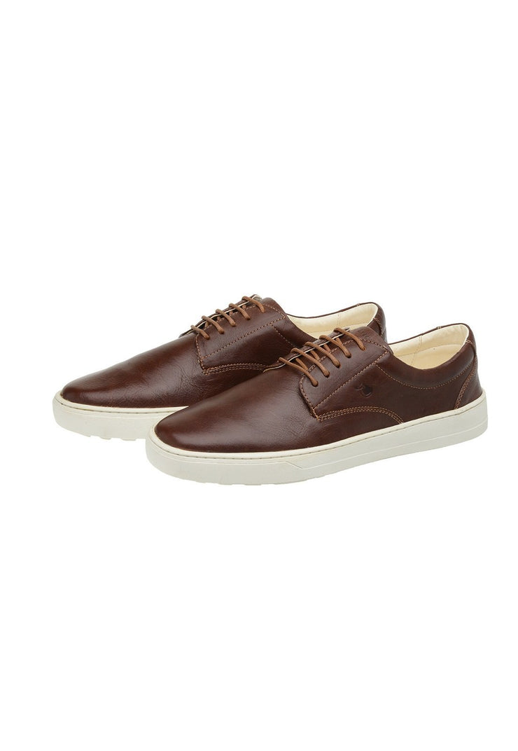 Sneaker Male Byron Leather Shoelaces Biodegradable Casual Brown