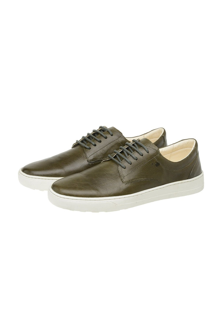 Sneaker Male Byron Leather Shoelaces Biodegradable Casual Green