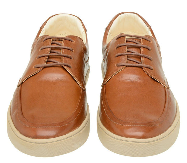 Sneaker Male Cottesloe Caramel Leather Shoelaces