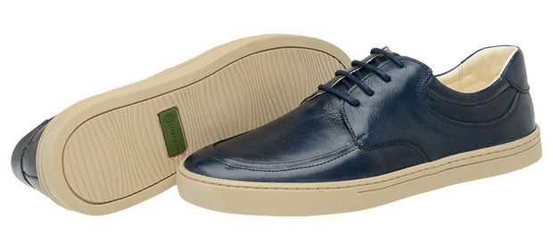 Sneaker Male Cottesloe Marine Leather Shoelaces