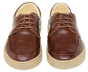 Sneaker Male Cottesloe Leather Shoelaces Brown