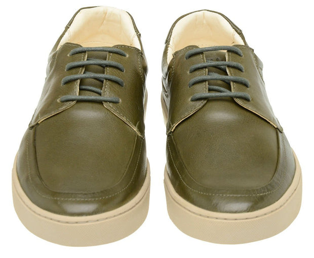 Sneaker Male Cottesloe Leather Green Shoelaces