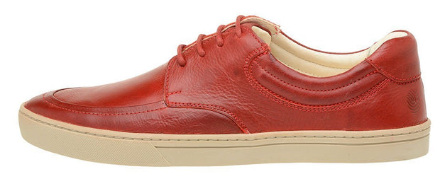 Sneaker Male Cottesloe Leather Shoelaces Red