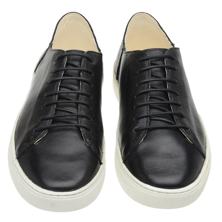 Sneaker Male Gold Coast Leather Shoelaces Biodegradable Black