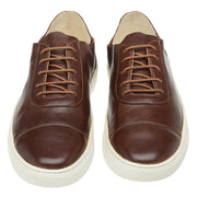 Sneaker Hyams Male Leather Shoelaces Biodegradable Casual Brown