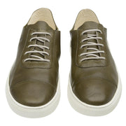 Sneaker Hyams Male Leather Shoelaces Biodegradable Casual Green