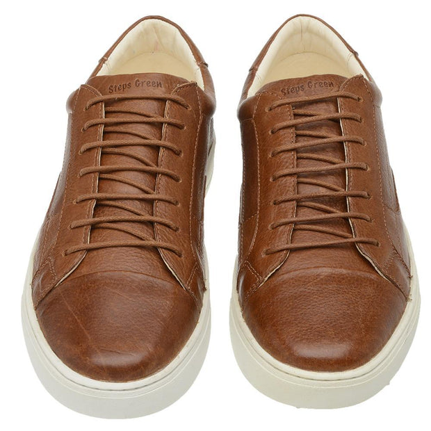 Sneaker Male Squeaky Leather Shoelaces Biodegradable Caramel