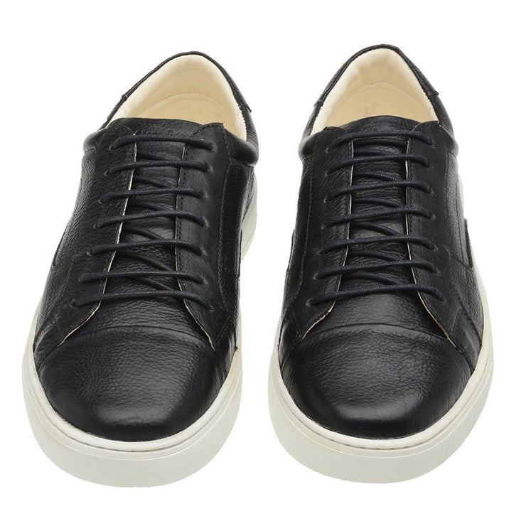 Sneaker Male Squeaky Leather Shoelaces Biodegradable Black