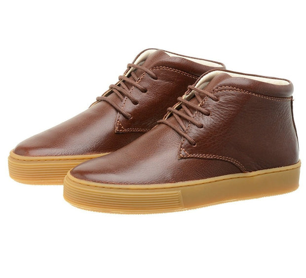 Shoe Leather Boot Shoelaces Children Sustainable Mahogany