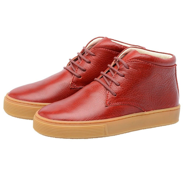 Shoe Leather Boot Shoelaces Children Sustainable Red