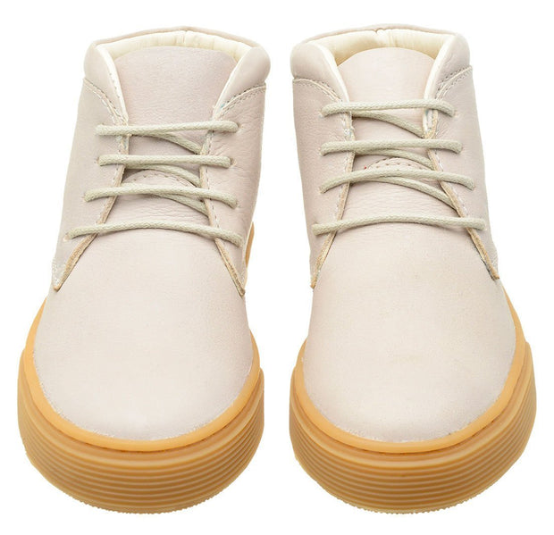 Shoe Leather Boot Shoelaces Children Sustainable White