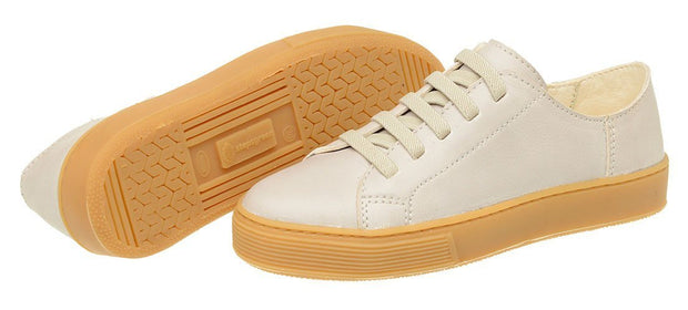 Shoe Leather Upper Low Leather Smooth White Children