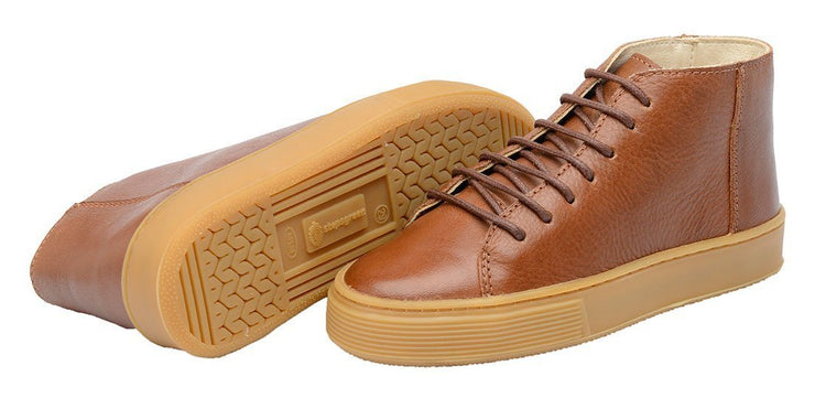 Shoe Leather Upper East Shoelaces Children Sustainable Caramel