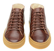 Shoe Leather Medium Cano Shoelaces Children Sustainable Mahogany
