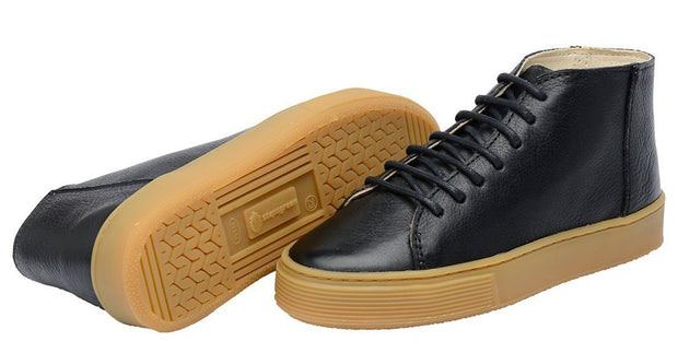 Leather shoes Cano East Shoelaces Children Sustainable Black