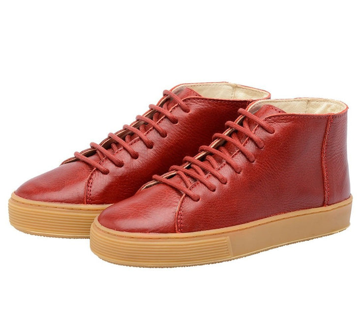 Shoe Leather Upper East Shoelaces Children Sustainable Red
