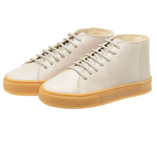 Shoe Leather Upper East Shoelaces Children Sustainable White