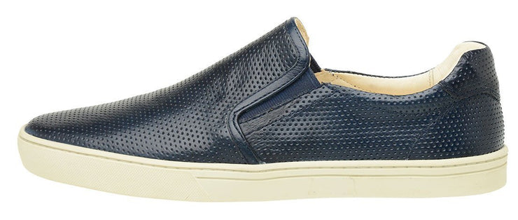 Male tennis Slip On Leather Elastic Yacht Marine