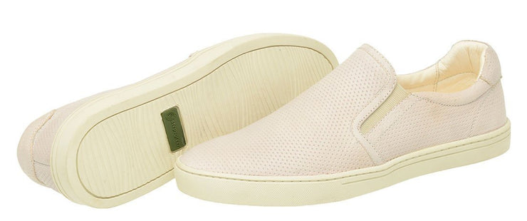 Male tennis Slip On Yacht Leather Elastic Off-White