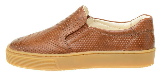 Shoe Slip On Leather Perfuros Children Sustainable Caramel