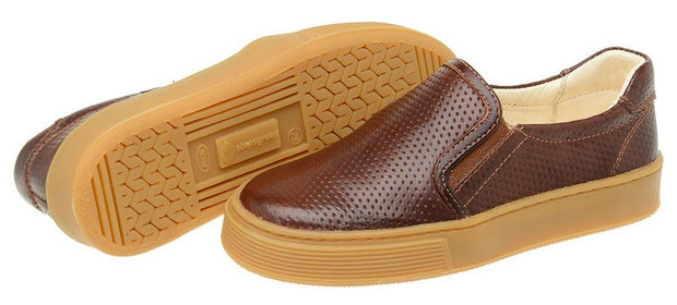 Shoe Slip On Leather Perfuros Children Sustainable Mahogany