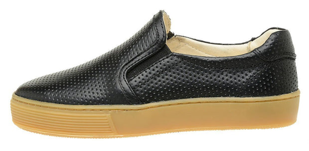Shoe Slip On Leather Black Sustainable Perfuros Children