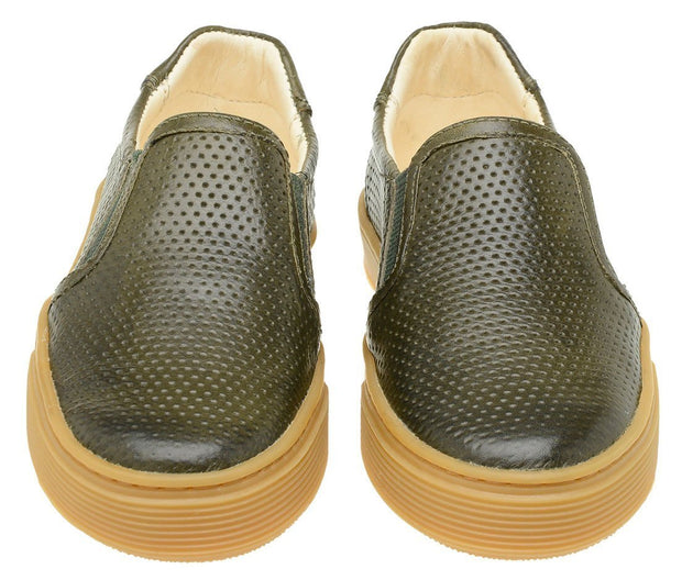 Shoe Slip On Leather Perfuros Children Sustainable Green
