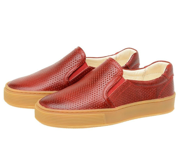 Shoe Slip On Leather Perfuros Children Sustainable Red