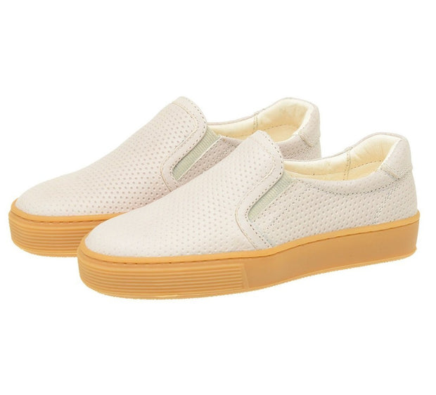 Shoe Slip On Leather Perfuros Children Sustainable White