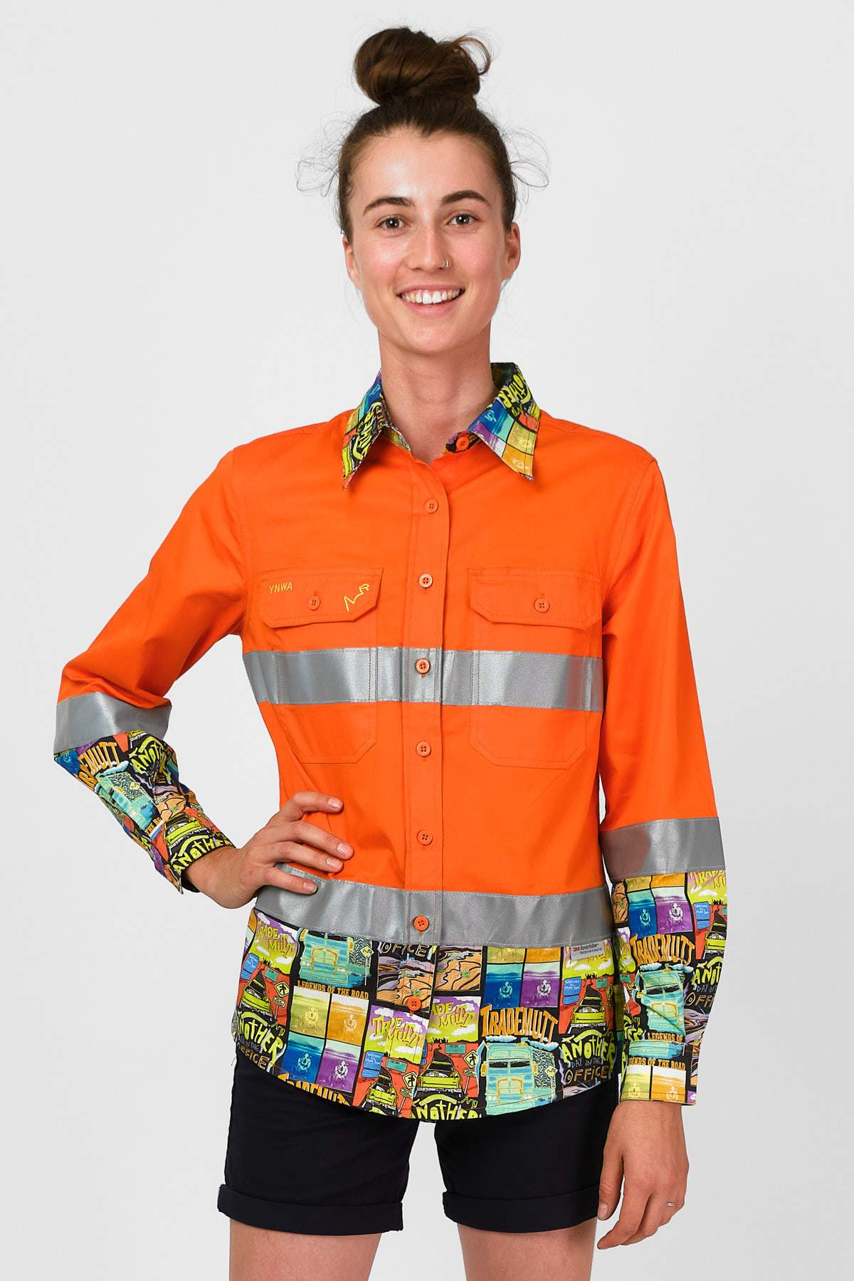 Women's Hi Vis Open Road Orange Workshirt