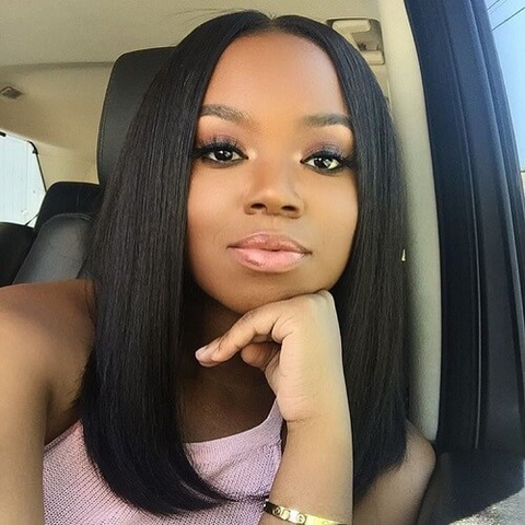 Straight Lace Wig Hairstyle