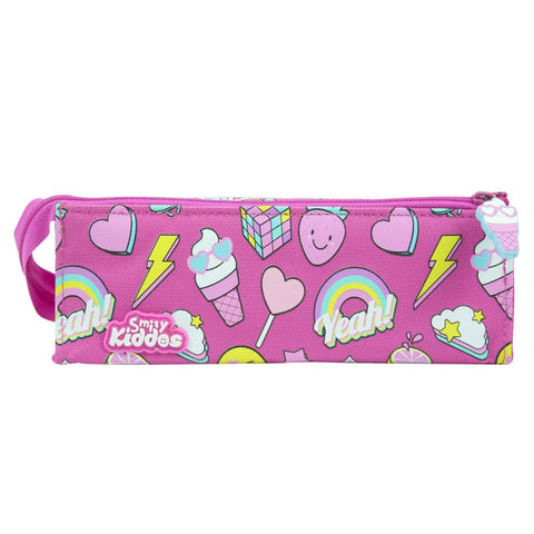 Smily Tray Pencil Case Pink