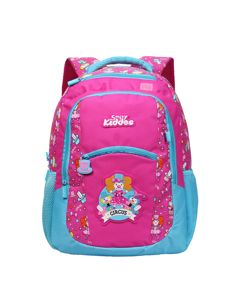 Smily Dual Color Backpack Pink