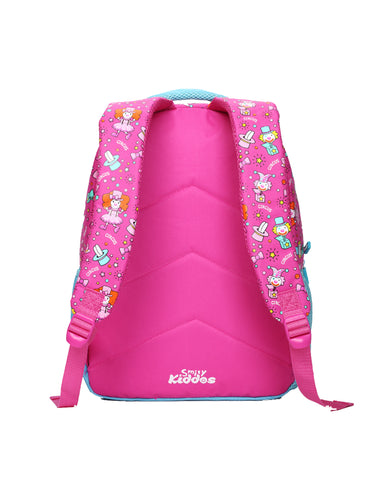 Image of Smily Dual Color Backpack Pink