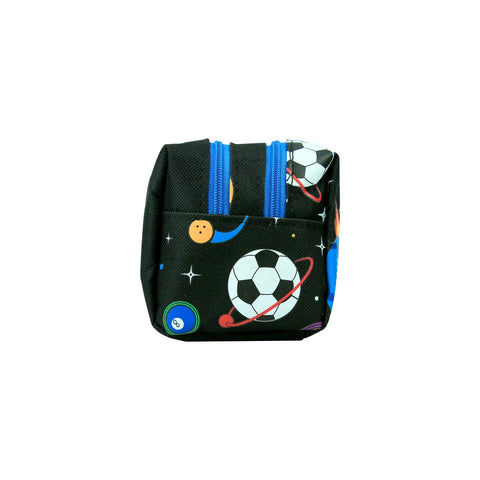 Image of Smily Twin Zipper Pencil Pouch (Black)