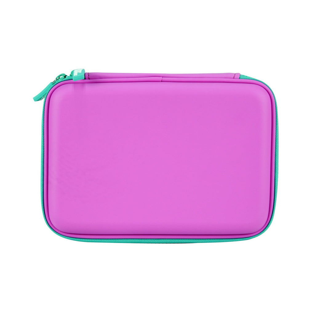 Smily Single Compartment Pencil Case Purple