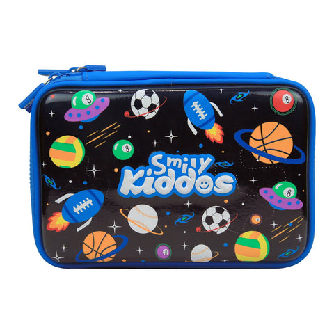 Image of Fancy Double Compartment Pencil Case (Black)