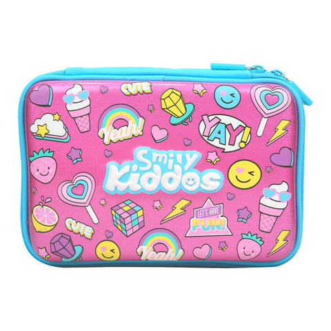 Image of Fancy Double Compartment Pencil Case (Pink)