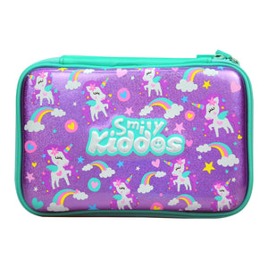 Fancy Double Compartment Pencil Case (Purple)