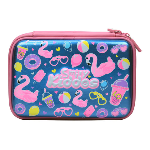 Image of Fancy Double Compartment Pencil Case (Light Blue)