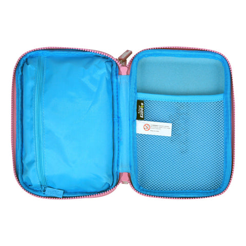 Fancy Double Compartment Pencil Case (Light Blue)
