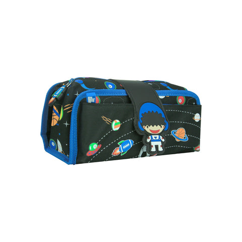 Fancy Strap Pencil Case (Black)