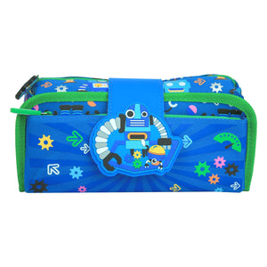 Fancy Strap Pencil Case (Blue)
