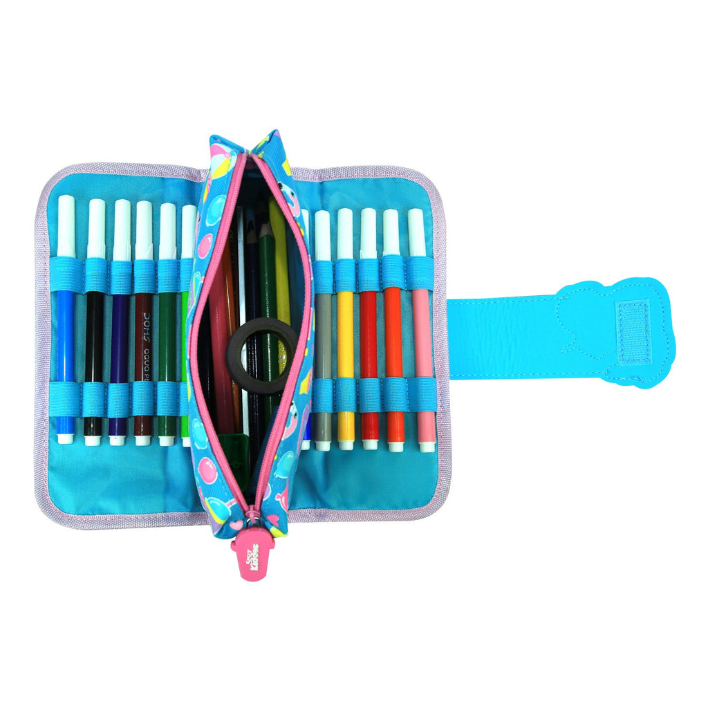 Fancy Strap Pencil Case Light Blue