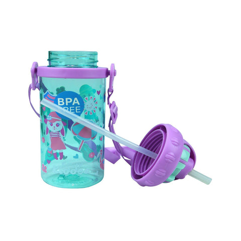 Image of Smily Sipper Water Bottle Light blue