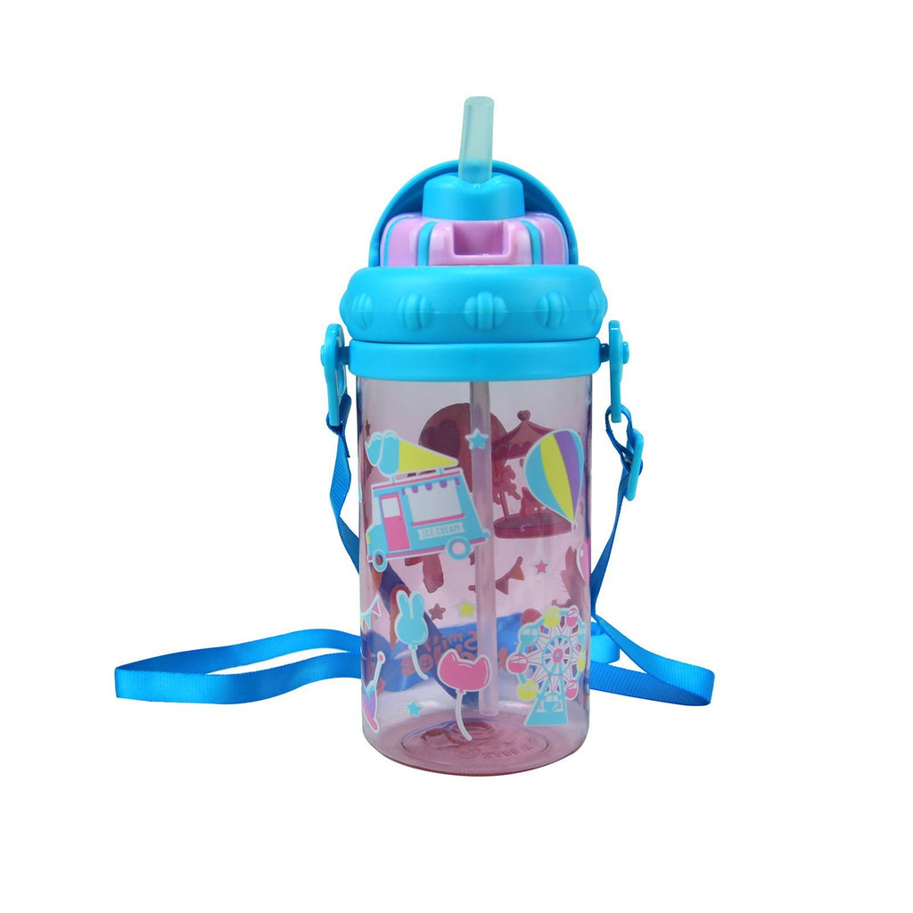 Smily Sipper Water Bottle Pink
