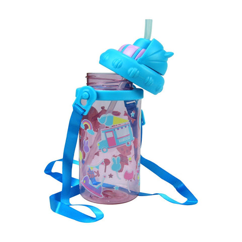 Image of Smily Sipper Water Bottle Pink