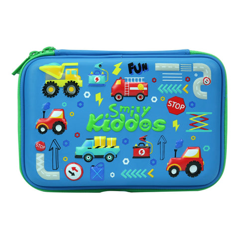 Image of Smily Double Compartment Pencil Case Blue