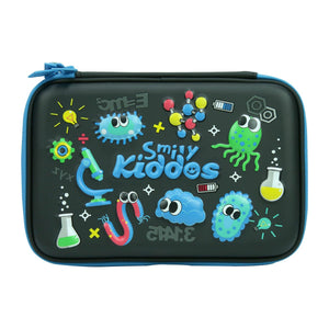 Smily Double Compartment Pencil Case Black